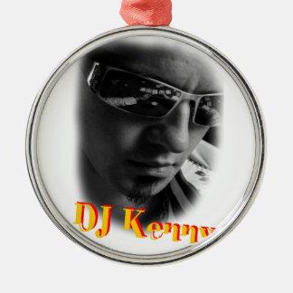 Dj Kenny Silver-Colored Round Ornament