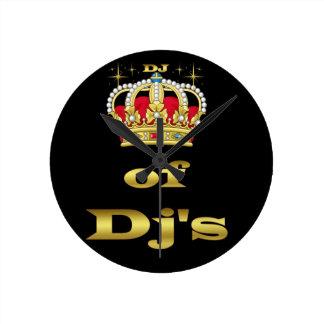 Dj - King of Dj's Round Wallclock