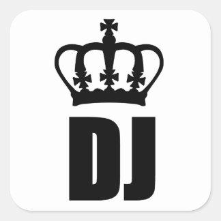 DJ King Square Sticker