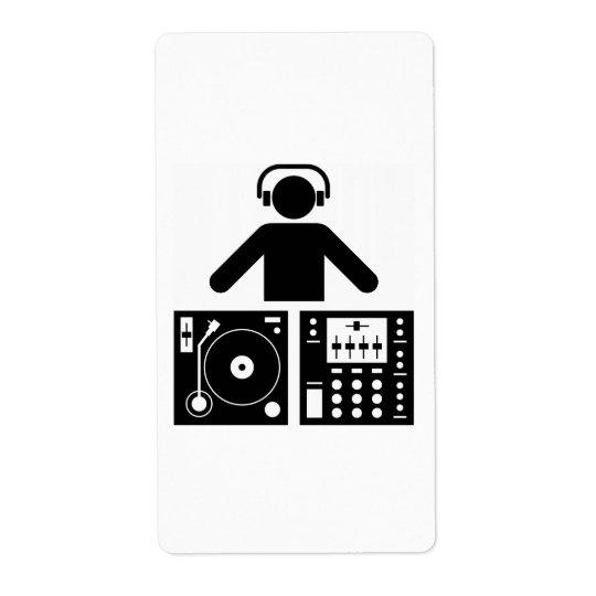 DJ label Shipping Label