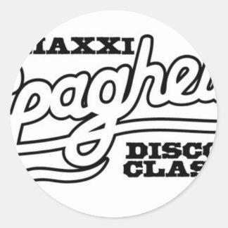 DJ MAXXI SPAGHETTI DISCO CLASSICS CLASSIC ROUND STICKER