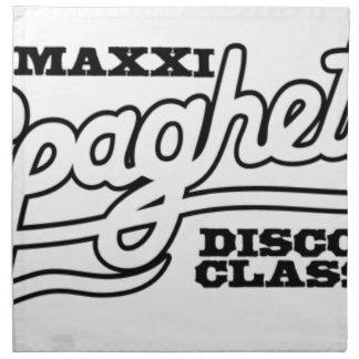 DJ MAXXI SPAGHETTI DISCO CLASSICS NAPKIN