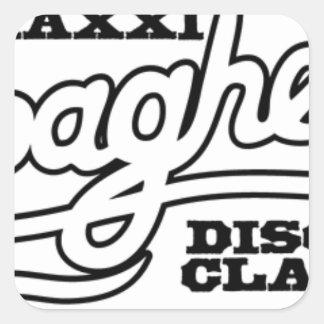 DJ MAXXI SPAGHETTI DISCO CLASSICS SQUARE STICKER