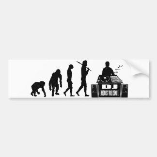 DJ MC s vinyl lovers DJ Clubbing deejay Bumper Sticker
