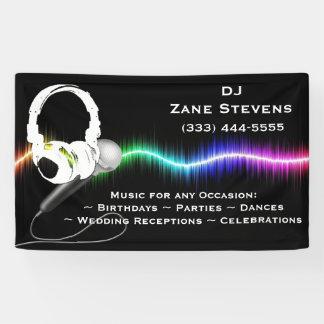 DJ Microphone Headphones Banner