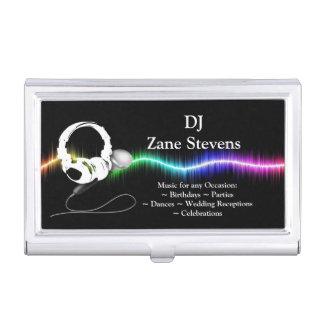 DJ Microphone Headphones Business Card Holder