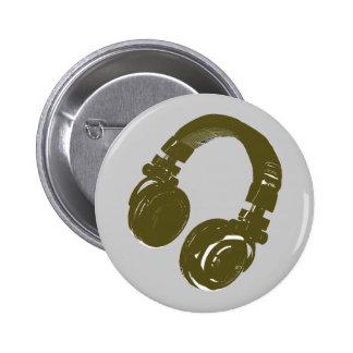 DJ music design 2 Inch Round Button