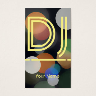 DJ music production and party night cover Business Card