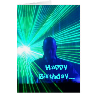 DJ on the decks - birthday card