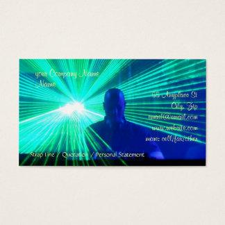DJ on the decks in nightclub / bar Business Card