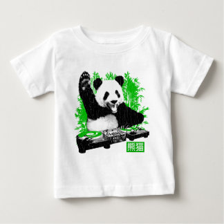 DJ Panda (vintage distressed look) Baby T-Shirt