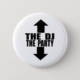 DJ-PARTY 2 INCH ROUND BUTTON