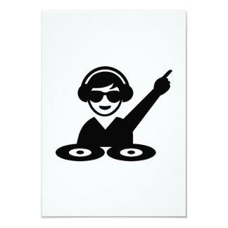 "Dj party music 3.5"" x 5"" invitation card"