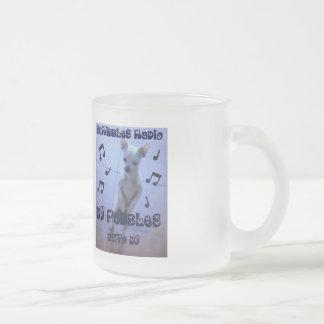 Dj Pebbles 10 Oz Frosted Glass Coffee Mug