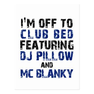 DJ Pillow and Mc Blanky Postcard