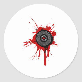 DJ Platter Splatter - Disc Jockey Turntable Deck Classic Round Sticker