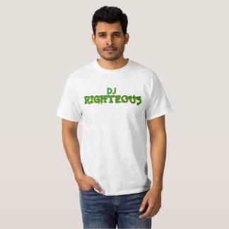 DJ Righteous White T T-Shirt