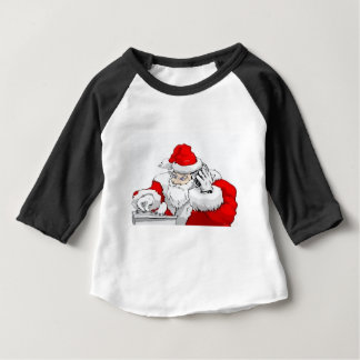DJ Santa Claus Mixing The Christmas Party Track Baby T-Shirt