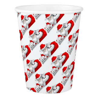 DJ Santa Claus Mixing The Christmas Party Track Paper Cup
