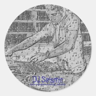 DJ Seismic- Makin Music! Classic Round Sticker