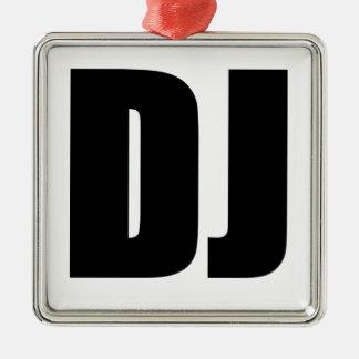 DJ Silver-Colored SQUARE ORNAMENT