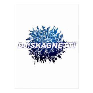 DJ.Skagnetti Blueworld Postcard