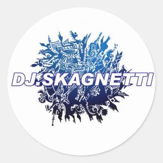 DJ.Skagnetti Blueworld Round Sticker