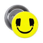 DJ smiley 2 Inch Round Button