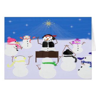 DJ Snowman and Friends Card