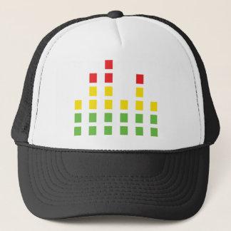 dj sound audio equalizer trucker hat