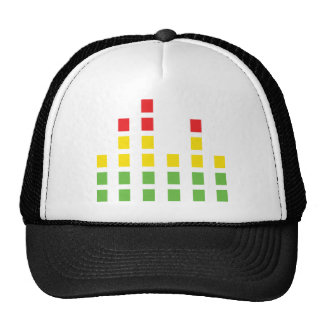 dj sound audio equalizer trucker hat