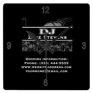 DJ Soundboard Microphone Wall Clock