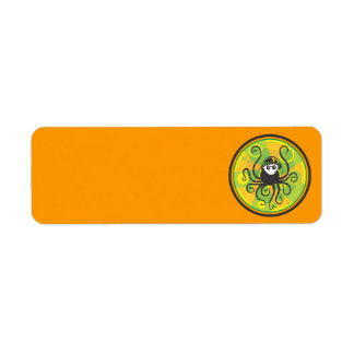 DJ Squid Green Return Address Label