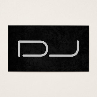 DJ Stylish Black Grey Background Business Card