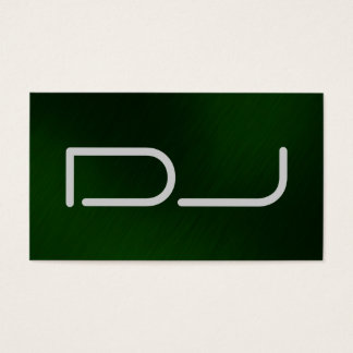 DJ Stylish Modern Green Background Business Card