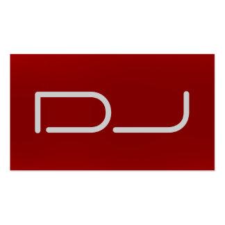 DJ Stylish Red Background Modern Business Card