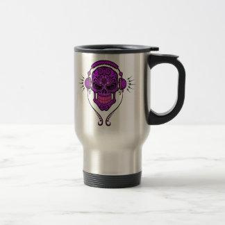 DJ Sugar Skull – Purple 15 Oz Stainless Steel Travel Mug