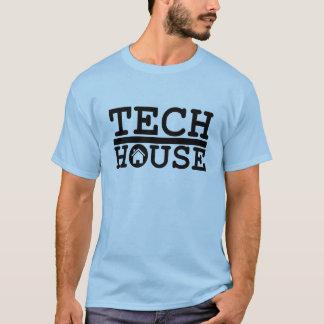 dj tech house music deep black design t shirt