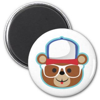 DJ Teddy Eddy 2 Inch Round Magnet