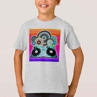 DJ Turntable Circles Tee Shirt