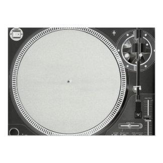 DJ Turntable Invitation