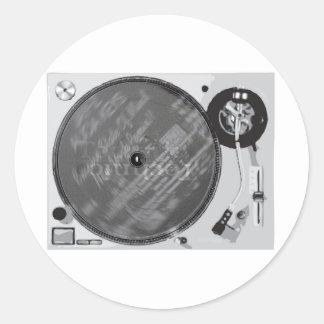 DJ Turntable Round Sticker
