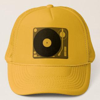 dj turntable trucker hat