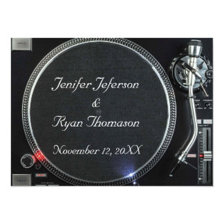 DJ Turntable wedding Invitation