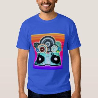 DJ Turntable with Vinyl - Pop Art Shirt
