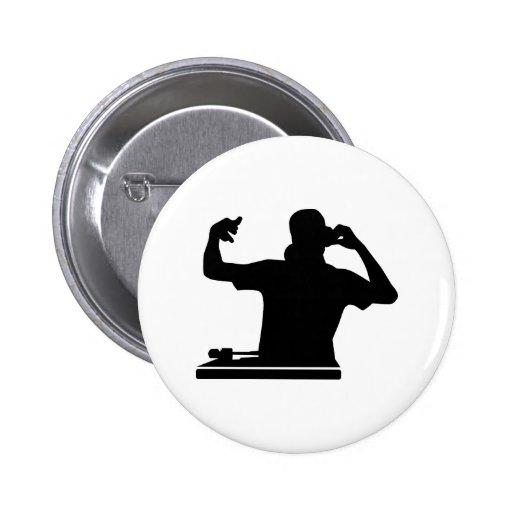 DJ Turntables club music Pin