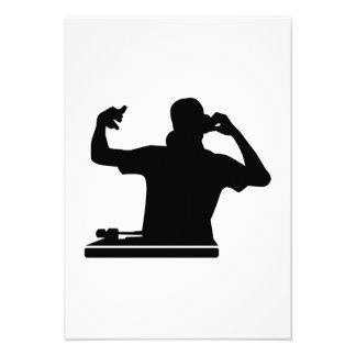 DJ Turntables club music Invitation