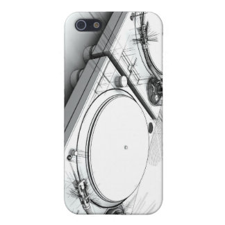 DJ Turntables Sketch 3D Illustration iPhone 5 Case