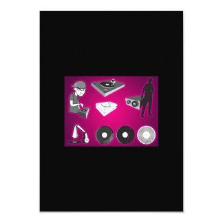 "dj-vectors-10117-large 5"" x 7"" invitation card"