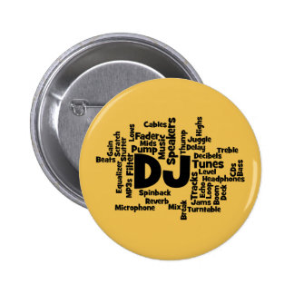DJ Word Cloud 2 Inch Round Button